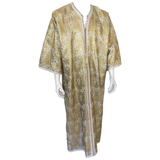 Moroccan Caftan in Silver and Gold Brocade Vintage Gentleman Kaftan Circa1960