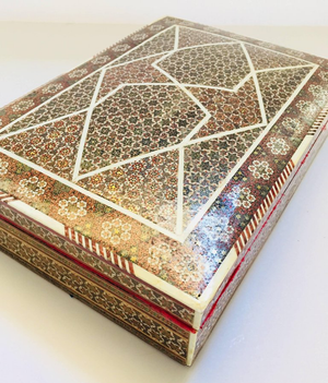 Syrian Mother-of-Pearl Bone Inlay Box