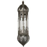 Large Moorish Moroccan Clear Glass Pendant