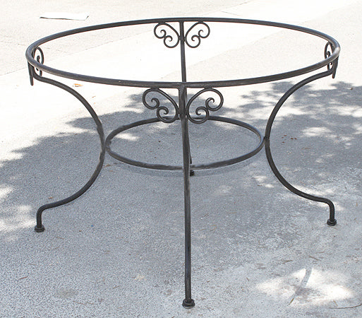Moroccan Wrought Iron Round Base