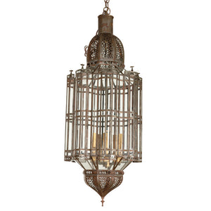 Moroccan Large Clear Glass Pendant Chandelier