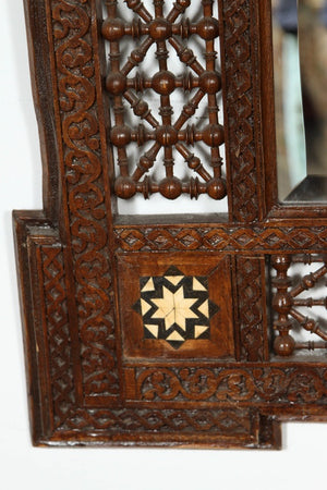 Pair of Syrian Damascus Mirrors Inlaid with Mother-of-Pearl