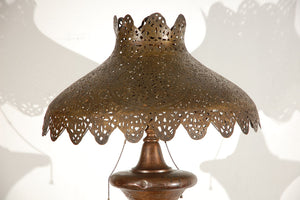 Middle Eastern Moorish Syrian Brass Pierced Floor Lamp
