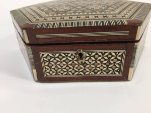 Middle Eastern Syrian Mother-of-Pearl Inlaid Octagonal Box