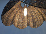 Antique Middle Eastern Moorish Pierced Brass Hanging Lamp