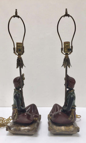 Pair of Midcentury Nubian Table Lamps