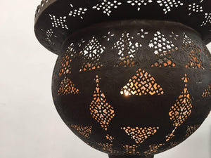 Antique 19th Century Hand-Crafted Moorish Pierced Brass Turkish Chandelier