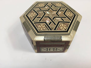 Middle Eastern Handcrafted Syrian Mother-of-Pearl Inlaid Box