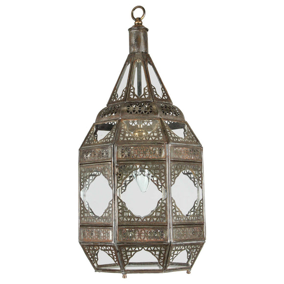 Moorish Clear Glass Lantern