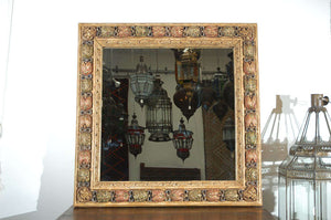 Moorish Style Hand-Carved Italian Mirror