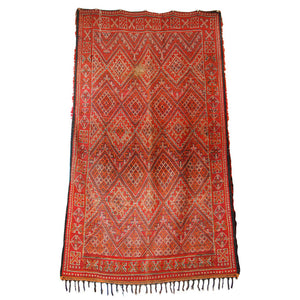 Moroccan Tribal Rug Double side Red