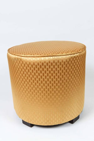 Pair of Modern Gold Moroccan Stools