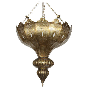 Brass Moroccan chandelier in Alberto Pinto Style