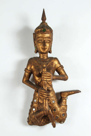 Pair of Thai Figures of Siamese Musicians