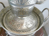 Moroccan Silver Wash Bowl and Pitcher Set