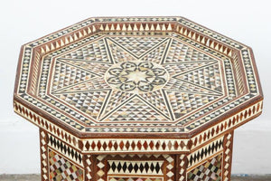 Syrian Octagonal Tables Inlay with Mother-of-Pearl