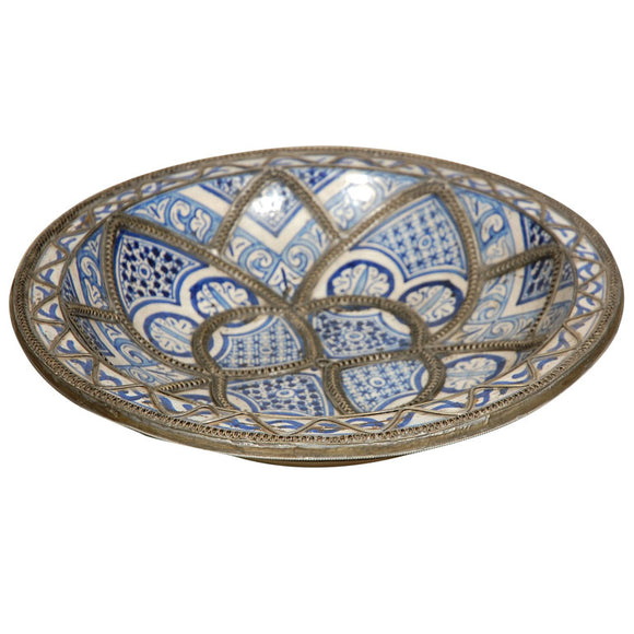 Hand Crafted Moroccan Fez Ceramic Plate