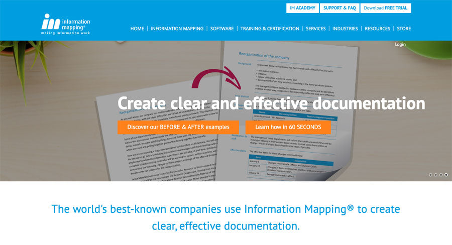 Welcome! We've built a new Information Mapping website to serve you even better.