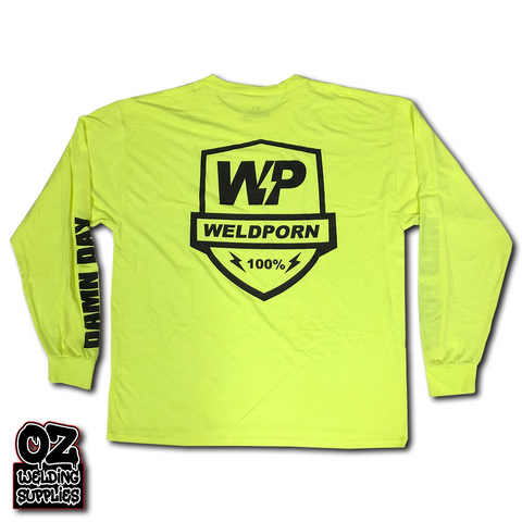 Weldporn® Hi-Vis Shield Logo Work Tees - Oz Welding Supplies
