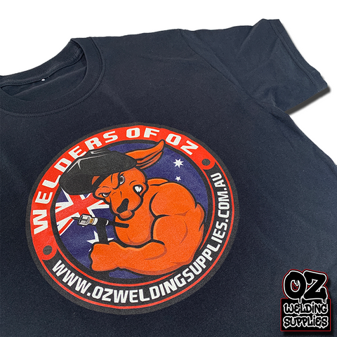 OWS Team logo Tee (ROGER THE ROO) - Oz Welding Supplies