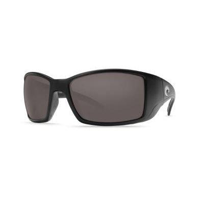 Costa Del Mar Blackfin Matte Black Frame Dark Gray Glass Sunglasses
