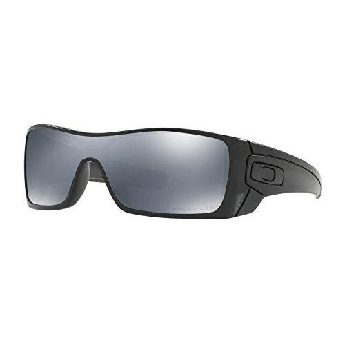 Oakley mens Batwolf OO9101-35 Iridium Polarized Sport Sunglasses,Matte Black Ink Frame/Black Iridium Lens,127 mm