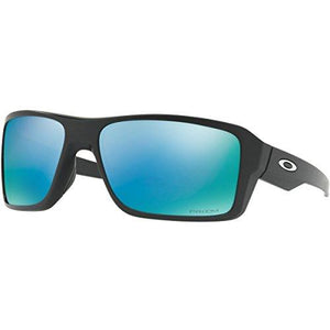 Oakley Men's Double Edge Polarized Sunglasses,Matte Blk