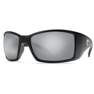 Costa Del Mar Sunglasses - Blackfin- Glass / Frame: Matte Black Lens: Polarized Silver Mirror Wave 580 Glass