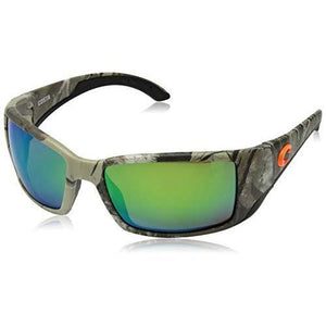 Costa Del Mar Blackfin Sunglasses, Realtree Xtra Camo, Green Mirror 580 Plastic Lens