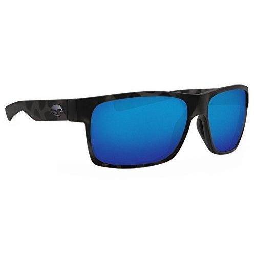 Costa Ocearch Half Moon Sunglasses Tiger Shark Frame/ Blue Mirror 580G Glass Lens