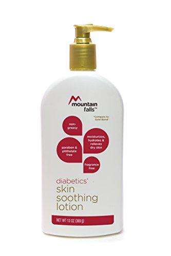 Mountain Falls Diabetics' Skin Soothing Lotion, Fragrance Free, Paraben and Phthlate Free, Compare to Gold Bond, 13 Ounce