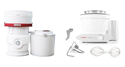 Bosch MUM6N10UC Universal Plus Stand Mixer, 800 watt, 6.5-Quarts with Nutrimill Plus Grain Mill Kitchen & Dining Nutrimill