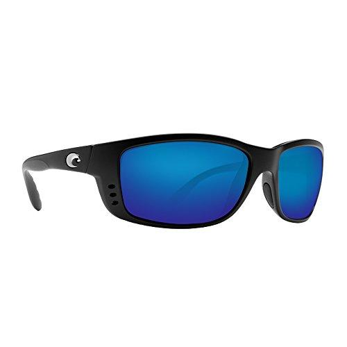 Costa Del Mar Zane Sunglasses, Black, Blue Mirror 580Plastic