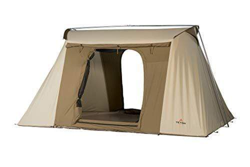 Teton Sports Mesa 10 Canvas Tent; Cabin Tent for Camping in All Seasons; Family Tent is Waterproof with Breathable Cotton Canvas Shell; Designed for Your Family's Camping Adventures; 4-6 Person Tent