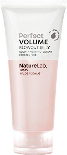 NatureLab. Tokyo – Perfect Volume Blowout Jelly with Apple Stem Cells, for voluminous body and thicker hair. 4 fl oz Vegan. Natural. Free of sulfates, and animal cruelty. Heat and Color Protection