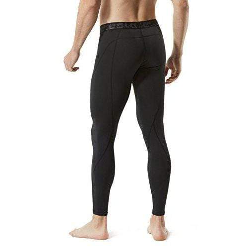 TM-MUP19-KLB_Large Tesla Men's Compression Pants Baselayer Cool Dry Sports Tights Leggings MUP19