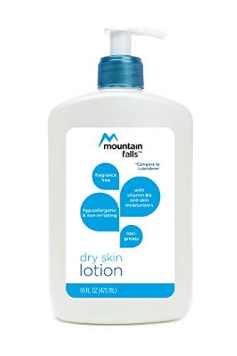 Mountain Falls Dry Skin Lotion with Vitamin B5 and Skin Moisturizers, Fragrance Free, Hypoallergenic and Non-Irritating, Pump Bottle, Compare to Lubriderm, 16 Fluid Ounce