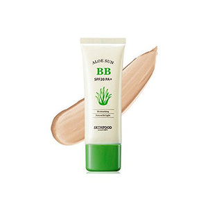 Skinfood Aloe Sunscreen BB Cream SPF20 PA+++ 50g [#1 Bright Skin] Light Beige