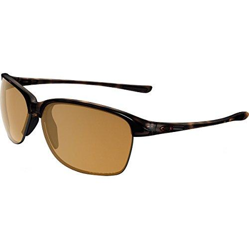 Oakley Men's Unstoppable Polarized Rectangular Sunglasses, Tortoise w/Bronze Polarized, 65 mm
