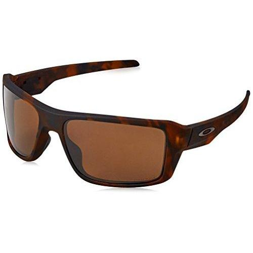 Oakley Men's Double Edge 0OO9380 Polarized Iridium Rectangular Sunglasses, MATTE TORTOISE, 66 mm
