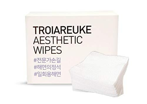 [TROIAREUKE] Aesthetic Wipes 100ct in 1 Pack - Makeup Remover Facial Cleansing Towelettes Wipes