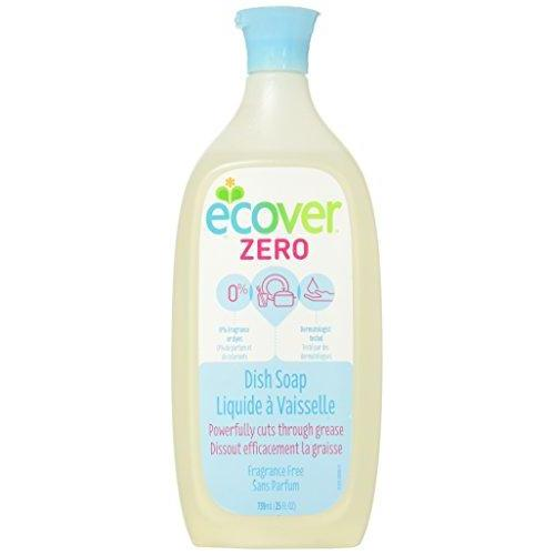 Ecover Natural Plant-Based Liquid Dish Soap, Fragrance Free, 25 Ounce Dish Soap Ecover
