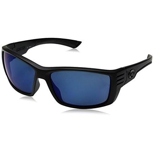 Costa Del Mar Cortez Sunglasses, Blackout, Blue Mirror 580 Plastic Lens