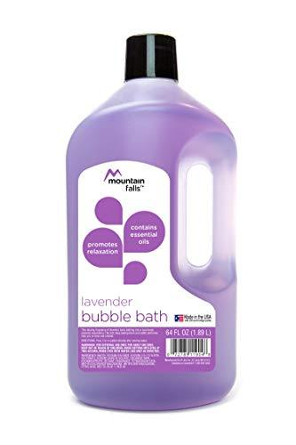 Mountain Falls Bubble Bath with Essential Oils, Lavender, 64 Fluid Ounce (Pack of 3)