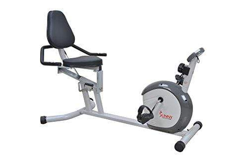 Sunny Health & Fitness Magnetic Recumbent Bike Exercise Bike, 300lb Capacity, Easy Adjustable Seat, Monitor, Pulse Rate Monitoring - SF-RB4601 Sport & Recreation Sunny Health & Fitness