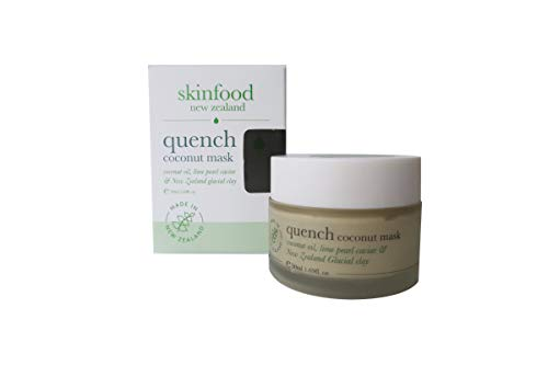 Skinfood Coconut Face Mask with Lime Pearl Caviar and New Zealand Glacial Clay, Hydrate, Clean and Refresh Skin Naturally