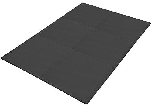 Puzzle Exercise Mat with EVA Foam Interlocking Tiles, Black Accessory BalanceFrom