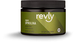 Amazon Brand - Revly Spirulina Superfood Powder, 5 Ounces, 47 Servings, Vegan