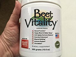 Beet Vitality – Delicious Organic Beetroot Powder – Nitric Oxide Booster for Energy Boost, Improved Athletic Performance, Heart Health, and Youthful Appearance