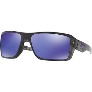 Oakley Men's Double Edge Non-Polarized Iridium Rectangular Sunglasses, Matte Black Tortoise, 66 mm